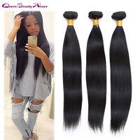 Virgin Brazilian Hair Extension Remy Straight Silky 3 Bundles(81012)/300g