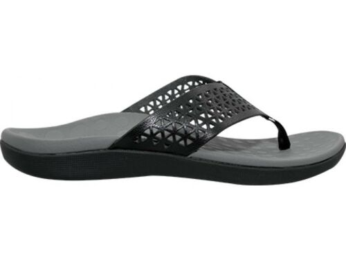 Orthaheel Scholl Orthotic Orthotics Women/'s Splice Thongs Black NEW