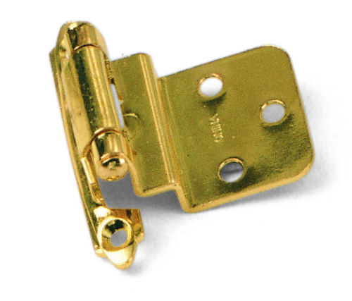 """Pair of Semi Concealed Self Closing 3//8/"""" Offset Kitchen Bath Cabinet Door Hinges"""