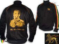 Jacket Rasta Reggae King of Ethiopia Jah Rastafari Haile Selassie I Polyester