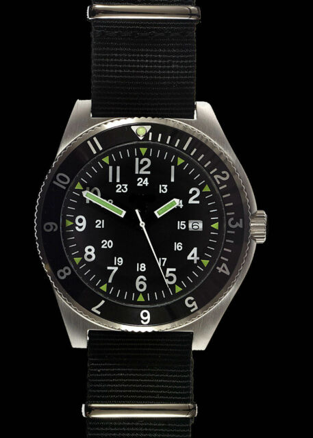 MWC 300m Water Resistant Stainless Steel Super Luminova Military Navigator Watch