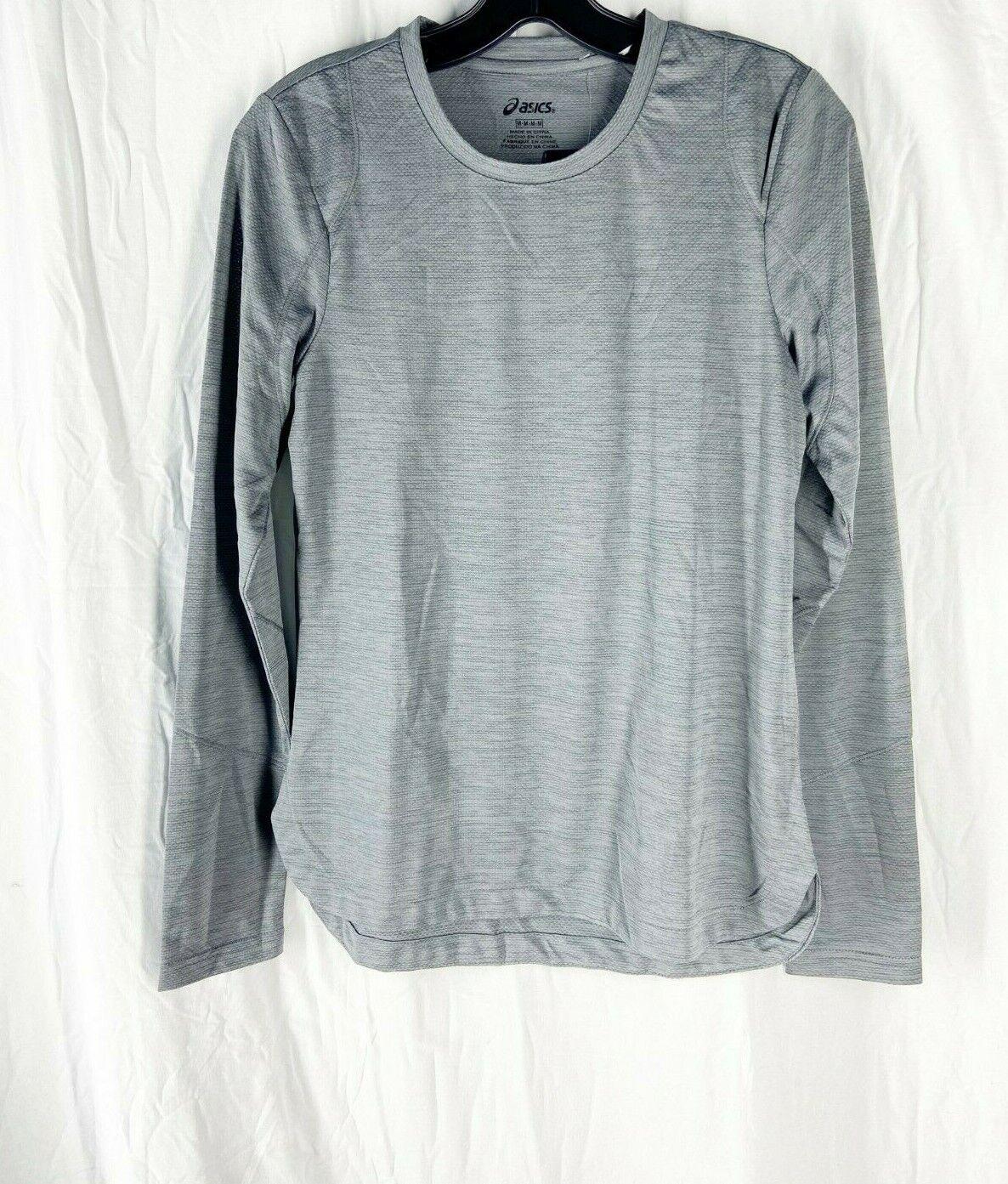 Asics Womens Dark Gray Heather Reflective Training Long Sleeve Top Size M