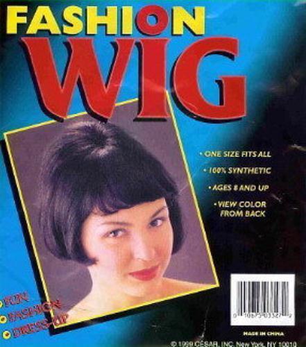 Black Wavy Beehive Bob with Bangs Fashion Wig 60/'s
