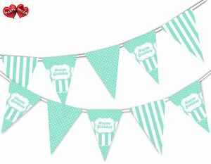 Happy-Birthday-Green-Mint-Stripes-Themed-Bunting-Banner-by-PARTY-DECOR