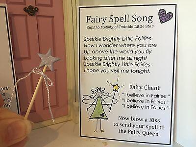 Fairy Door Accessories - Miniature Fairy Wand & Fairy Spell Song - Handmade    eBay