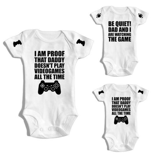 UK Newborn Kids Baby Boy Girl Game Play Romper Jumpsuit Bodysuit Outfit Clothes