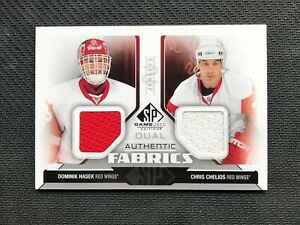 2014-15-SP-GAME-USED-HASEK-CHELIOS-DUAL-AUTHENTIC-FABRICS-JERSEY-AF2-CH