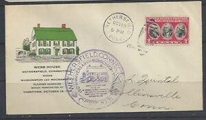 703-FDC-addressed-with-color-Webb-House-cachet-Wethersfield-CT-writing-bottom