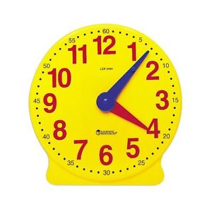Details about Geared Teaching Aid Time Learning Educational Clock Learn To  Tell The Time