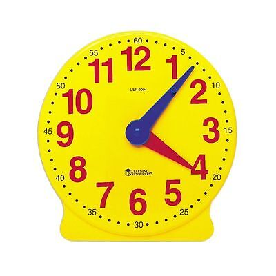 Geared Teaching Aid Time Learning Educational Clock Learn To Tell The Time  | eBay