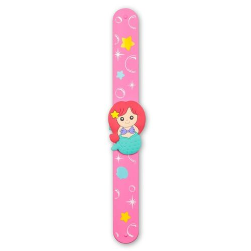 29648 BOYS GIRLS KIDS FUN WRISTBAND FASHION WRIST MERMAID SNAP BRACELET