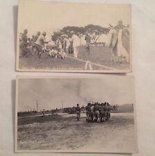 old postcard PHOTO, US MILITARY BASE FORT MILLS, CORREGIDOR, MANILA PHILIPPINES