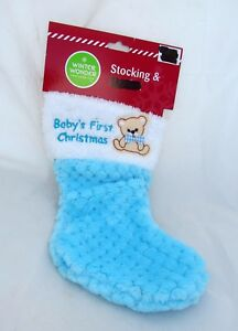 image is loading baby 039 s 1st christmas stocking boy blue
