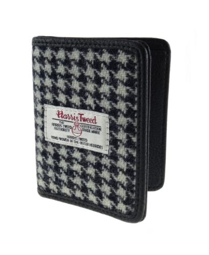 Authentic Harris Tweed Credit Card Holder Black//White Dogtooth LB2006 COL 29