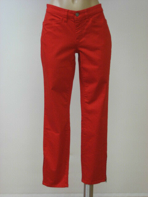 EILEEN FISHER Stretch Twill Lava Red Slim Zip Ankle Pants 2 NWT  178