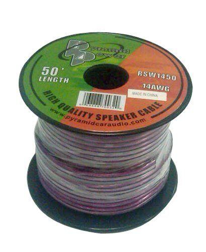 Pyle PSC1650 16-Gauge 50-Feet Spool of High Quality Speaker Zip Wire