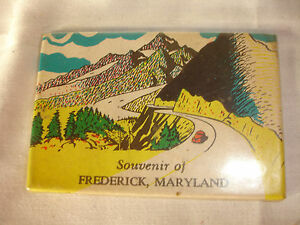 Collectible-Souvenir-Of-Frederick-Maryland-Pocket-Mirror-Mountains-Road