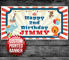Vintage Circus Big Top Birthday Banner Custom Party Decoration