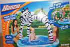 NIB Banzai Shade N Sun Zebra Pool Big and Shady  Kids Sunshade Canopy Fun