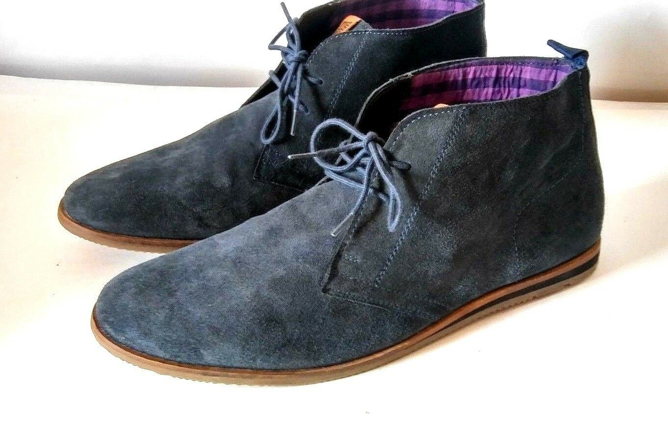 Ben Sherman Mens Navy Suede Chukka Boots shoes Size 13