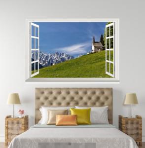 3D Grassland 409 Open Windows WallPaper Murals Wall Print Decal Deco AJ Summer