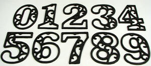 Image Is Loading Usa Er Ornate Cast Iron House Address Numbers