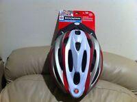 For Sales - Schwinn Adult Traveler Helmet, Silver/red