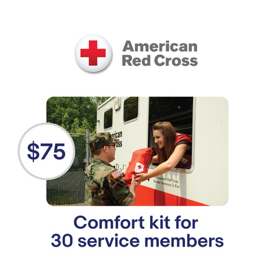 American Red Cross $75 Service Members Comfort Kits Symbolic Charitable Donation