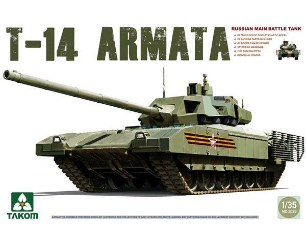 RUSSIAN MANIN MAIN BATTLE TANK T-14 1 35 Takom