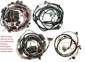 1969 Corvette Wire Harness Set for Vettes without AC   eBay
