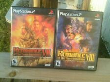 Romance of the Three Kingdoms VII& VIII (Playstation 2) 7& 8 ps2 COMPLETE RARE