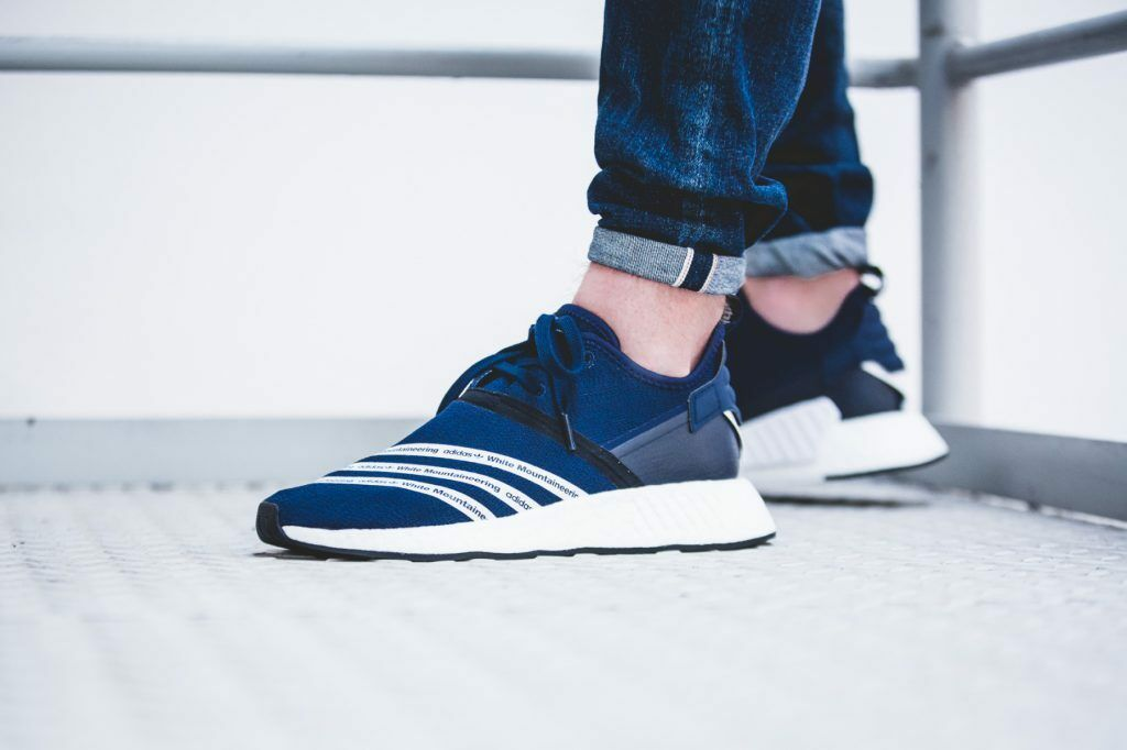 Adidas NMD R2 White Mountaineering Navy Blue BB3072 size 10.5