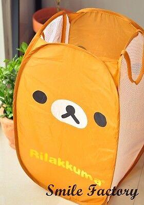 San-X Rilakkuma Relax Bear Laundry Bag Foldable Storage Cloth Laundry Basket