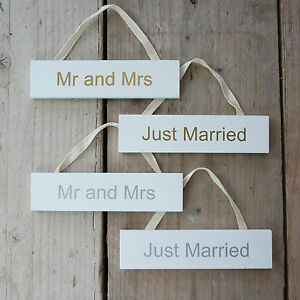 MR Plaque dimmatriculation vintage Just Married 30 x 15 cm