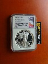 1988 S PROOF SILVER EAGLE NGC PF69 ULTRA CAMEO RARE MIKE CASTLE SIGNED!