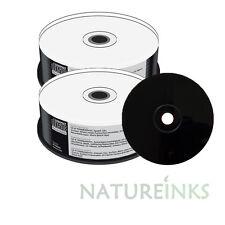 50 Mediarange Black Bottom CD-R Blank CD R discs Full White Printable 52x 700MB