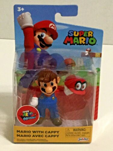 "2020 Jakks Pacific-Super Mario OdysseyMario avec Cappy 2.5/"" Figure"