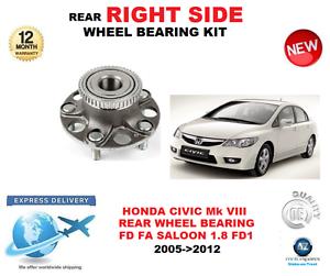 pour-Honda-Civic-KIT-ROULEMENT-DE-ROUE-ARRIERE-FD-FA-BERLINE-Cote-DROIT
