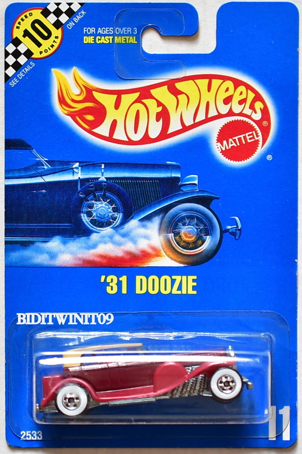 Hot Wheels 1990 Azul Tarjeta '31 Doozie  11  Rojo  07
