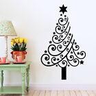 White/Red/Black Christmas Tree Wall Sticker Xmas Art Deccal Home Decor 42*60cm