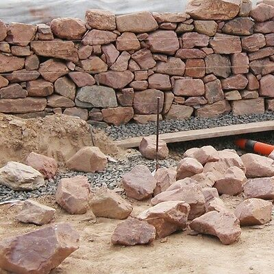 1,3 T Buntsandsteine € 170/t Natursteinmauer Bachlauf Trockenmauer Gartenmauer Weich Und Leicht