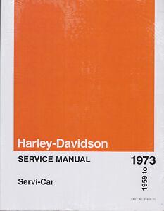 Details about 1959-1973 Harley Servi-Car Trike Service Repair Workshop on