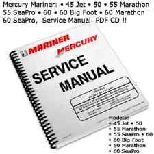 Mercury Mariner 45 Jet 50 55 Marathon 55 Seapro 60 Big Foot Pdf Cd