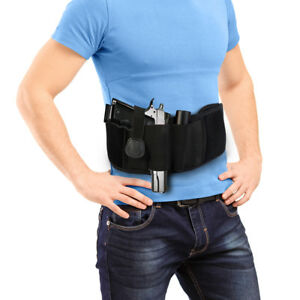 Adjustable Concealed Elastic Pistol Gun Holster Waist Band  Belt Belly Gridle