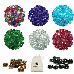 500 Purple Glass Round Decorative Pebbles Stones Nuggets Beads