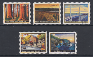 US-Sc-4378-4511-4649-4927-5040-used-2009-16-Priority-Mail-5-diff-VF