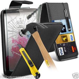 Top-LIBRO-PIEL-CALIDAD-Funda-de-telefono-Protector-Pantalla-Cristal-para-LG