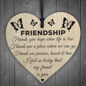 1pc Freundschaft Plaque Zeichen Beste Freund Geschenk Chic Herz