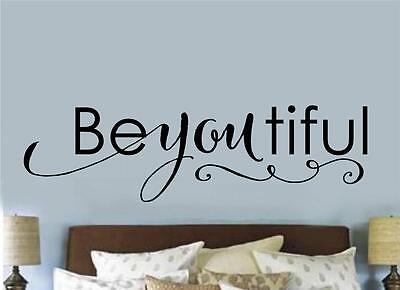 Beyoutiful Teen Room Bathroom Decor Wall Decal Vinyl Sticker Words Lettering