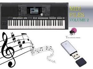 MIDI File Karaoke USB stick for PSR S950 S970  NEW Volume 2